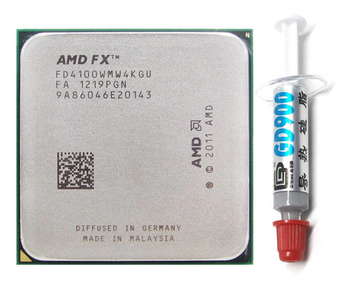 Imagem 1 de 5 de Processador Amd Fx 4100 Socket Am3+ Com Pasta Térmica Gd900