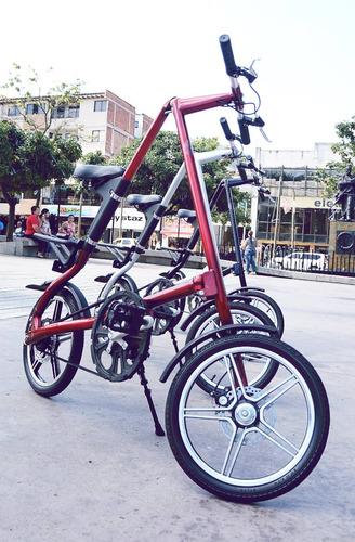 Imagen 1 de 6 de Bicicleta Plegable Aleación De Aluminio Muy Liviana.
