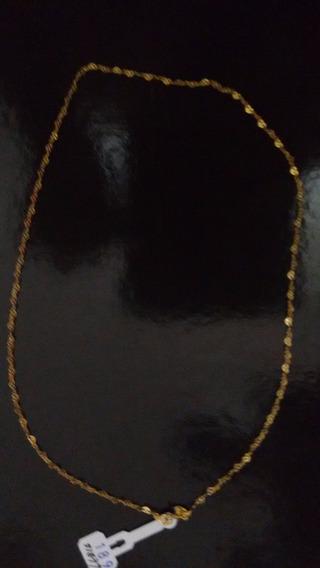 Cordã Foleado A Ouro 18k