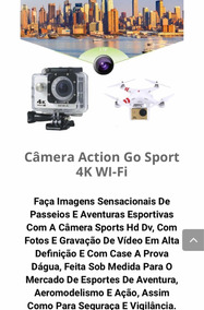 Action Cam 4k Wifi Camera Capacete Esporte Hd 1080p 4k
