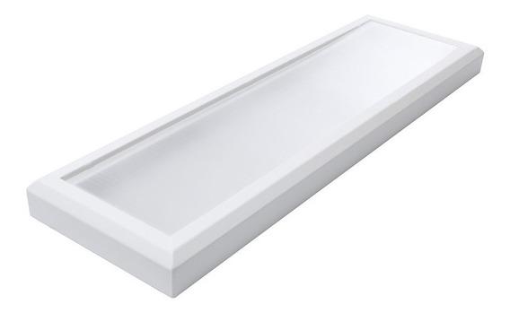 Luminária Retangular Plafon Led De Sobrepor 6000k 34w - Rcg