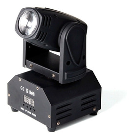 Mini Moving Head Led 12w Rgbw Iluminacao Dj Festa Balada