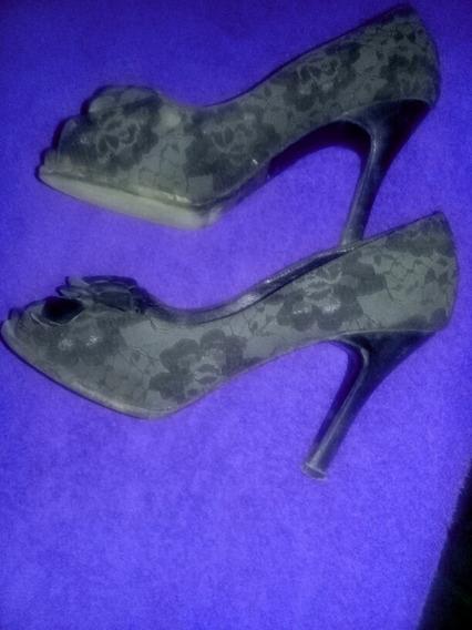 Zapatos Stilettos Punta Boca De Pez. Luciano Marra