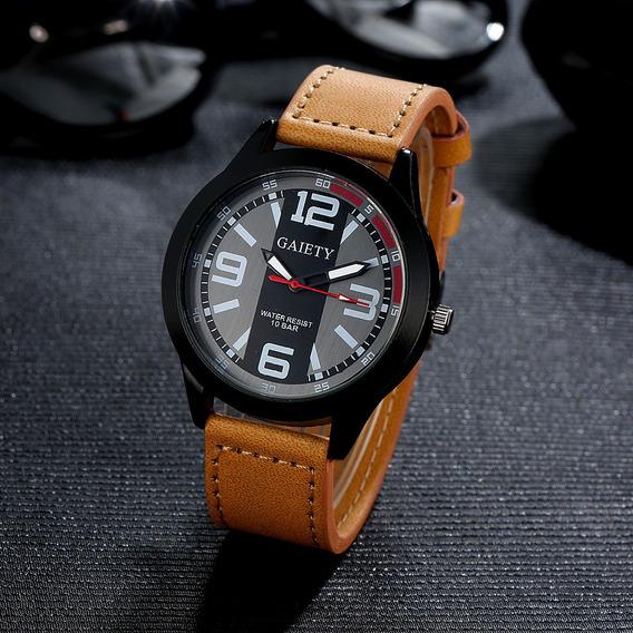 Relógio Masculino Gaiety Militar Pulseira De Couro