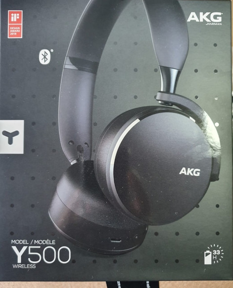 Fone Estereo Bluetooth Akg Y500 Wireless Lacrado - Grafite