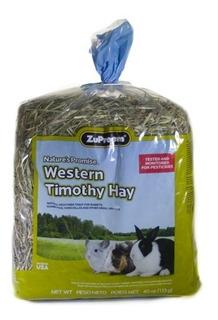 Heno Timothy Zupreem 1.13 Kg. El Mejor Heno Para Tu Conejo Chinchilla Cuyo Y Otros Herbívoros Pues No Contiene Alfalfa