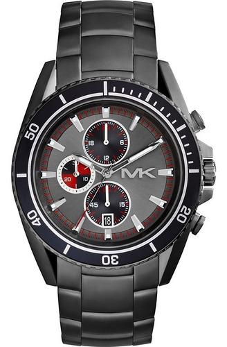Relógio Michael Kors Mk8340 Lansing Orig Chron Anal Grey