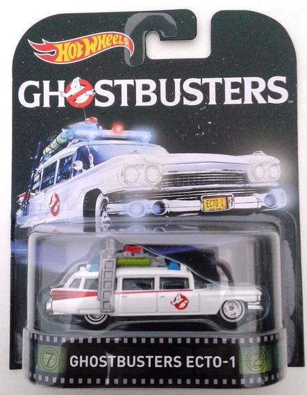 Ecto 1 Caça Fantasmas Retrô Hot Wheels 1:64 Carros Miniatura