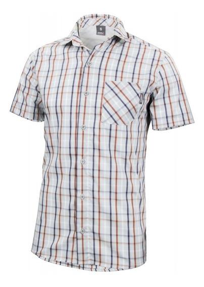 Camisa Hombre Ansilta Antu Informal Clásica Cuadros Liviana