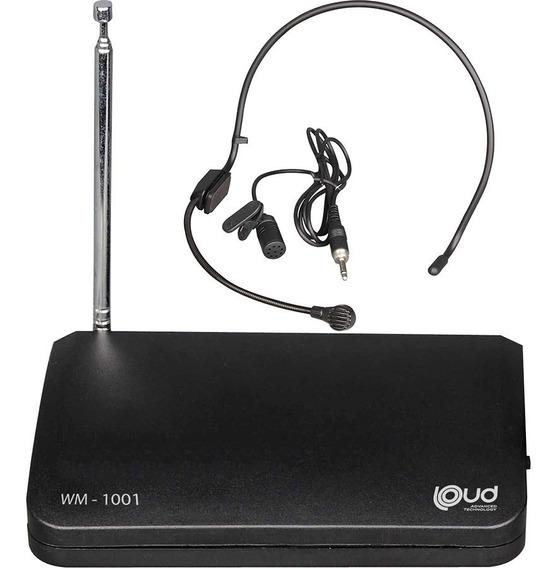 Microfone Sem Fio Auricular Headset - Loud Wm1001 - Fm - 30m