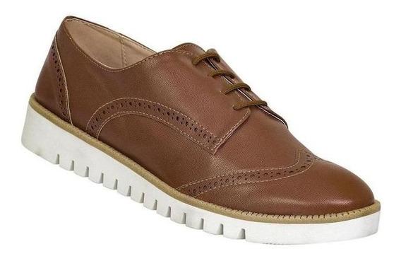 Zapato Cerrado Caramel Mujer Cafe Tipo Napa D 611