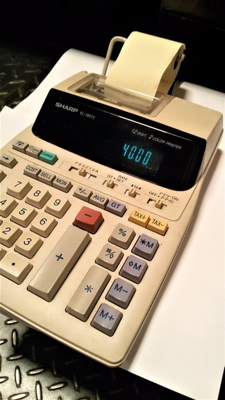 Calculadora Eletrônica 120v Sharp El-1801v 12 Digitos Usada