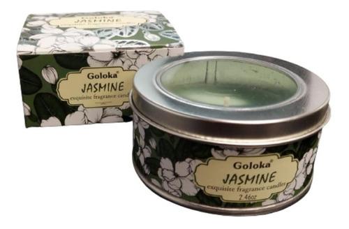 Imagem 1 de 4 de Vela Aromatica Indiana Goloka Duração De 6h Jasmim
