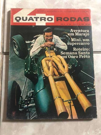 Quatro Rodas 68 Março 66 Jim Clark Ilha Marajó Frete Grátis!