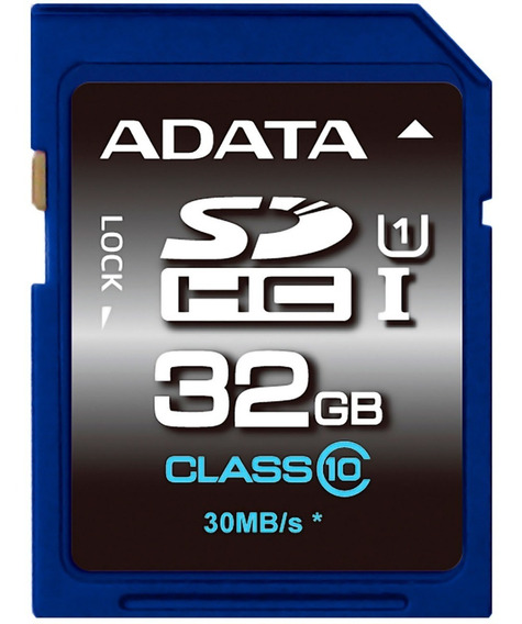 Memoria Sd 32gb Adata Clase 10 Video Full Hd V10 Camara Digital Dslr