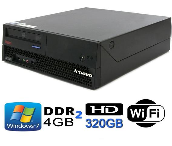 Cpu Lenovo Core2duo / 4gb Ddr2 / Hd 320 Super Barato.