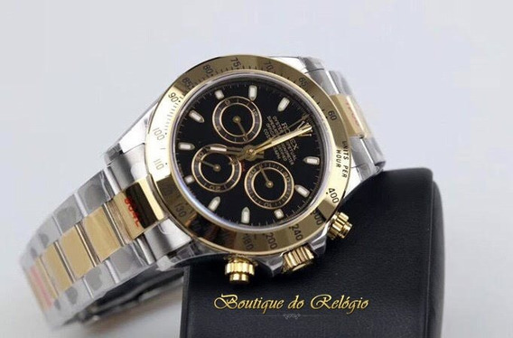 Relógio Eta - Modelo Daytona Misto Preto - Jh A4130