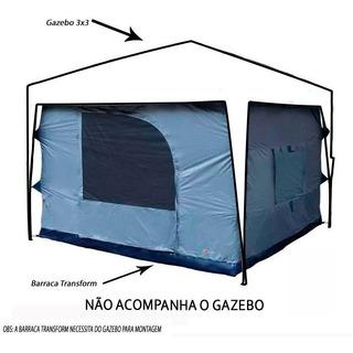 Barraca Ntk Para Gazebo Tenda Transform 5/6 Pessoas Impermeável 3000mm Com Mosquiteiro