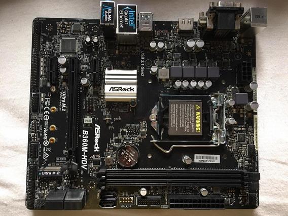 Placa Mãe Asrock B360m-hdv - Intel 8ª Geração