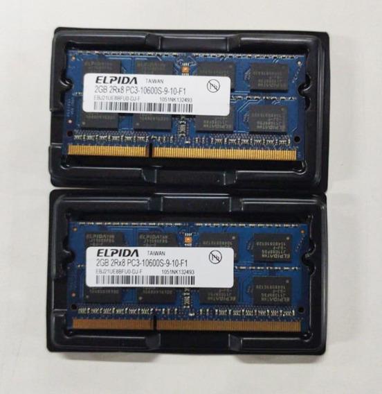Memória Elpida Ddr3 4gb 1066 Mhz Notebook 1.5v - Kit C/ 02