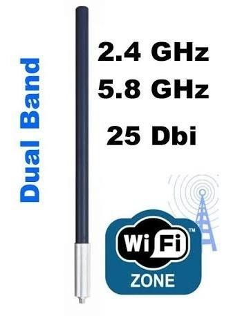 Antena Omnidirecional 25dbi, Dual Band, Provedor