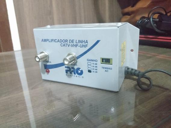 Kit 4 (quatro) Amplificadores De Linha Catv-vhf-uhf - 30dv