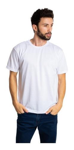 Imagem 1 de 3 de 10 Camisetas Brancas Pv Malha Fria Poliéster Viscose Atacado