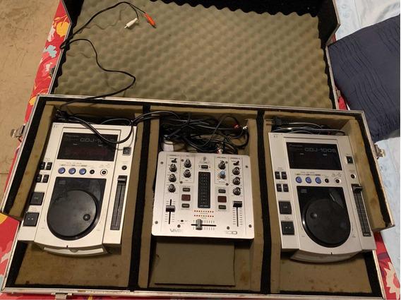 Cdj 100 (par) + Mixer Behringer + Case