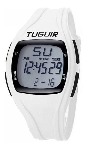 Relógio Pedômetro Unissex Tuguir 1602 Branco 1 Ano Garantia