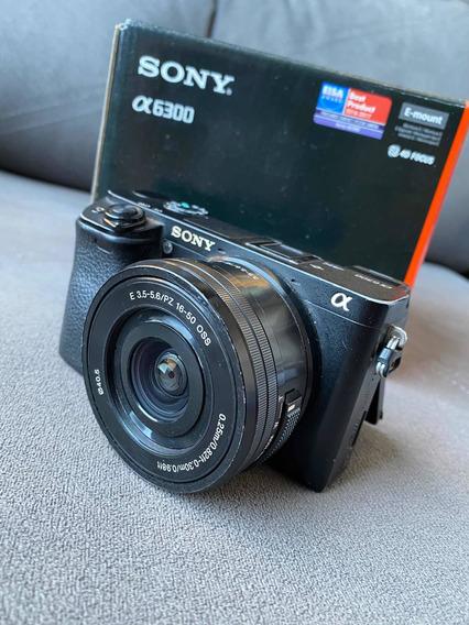 Sony A6300 Com Lente 16-50 Na Caixa