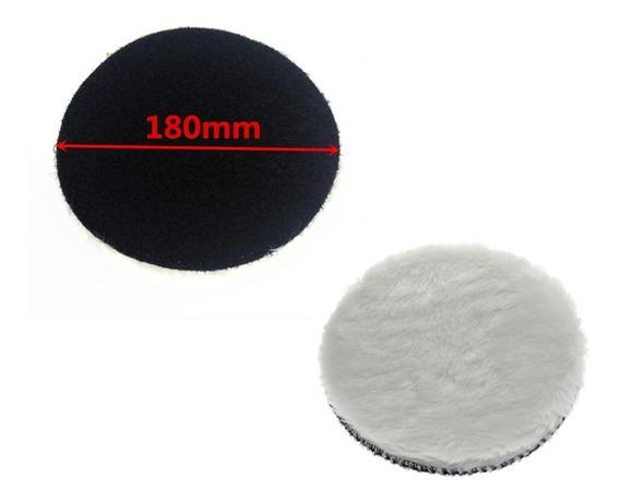 1 Pç Boné De Pele Boina De Polimento 180 Mm 7 Com Velcro
