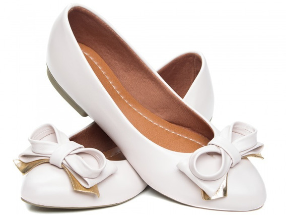 Sapatilha Bico Fino Feminina Branca Ultra Confortável