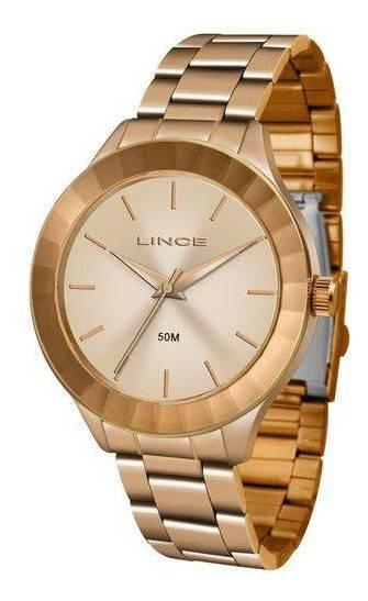 Relógio Feminino Lince Pulseira Aço Inox 50m Lrr4592l-r1rx