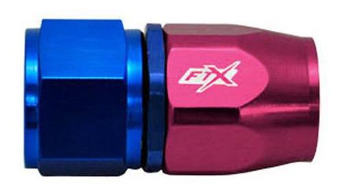 Imagen 1 de 2 de Acople Conexión Recto An6 Azul Rojo Ftx Fueltech