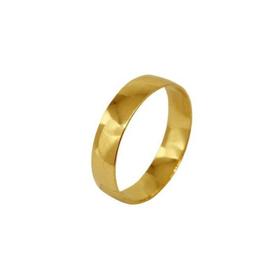 Aliança Casamento Ouro Amarelo 18k - 4mm - Cod 1877