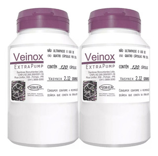 2 Veinox Extra Pump 240 Cáps - Power Supplements - Dilatex