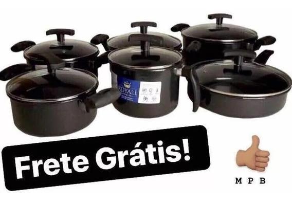 Jogo De Panelas Ceramica 6 Peças Fogao Indução Cooktop Lenha
