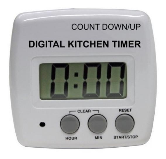 Timer Digital De Cocina Numeros Grandes Con Iman Y Sujetador