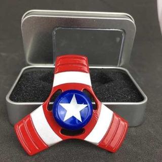 Fidget Spinner Capitan America Metalico