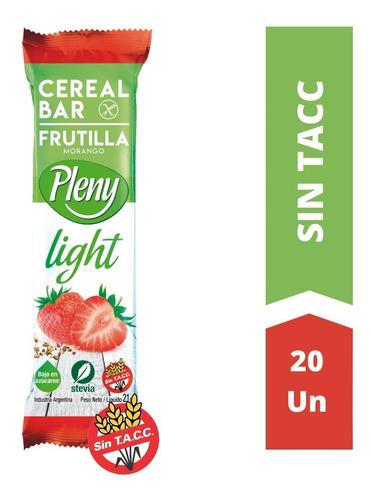 Barras De Cereales Pleny Light Caja X 20 Sin Tacc Con Stevia