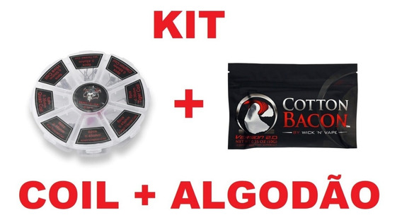 Kit 1 Coil Demon Killer + 1 Algodão Cotton Bacon® V2 P/ Vape