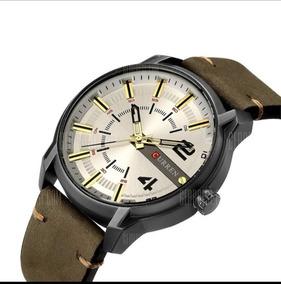 Relógio Masculino Curren Analógico 8306 - Castanho Militar