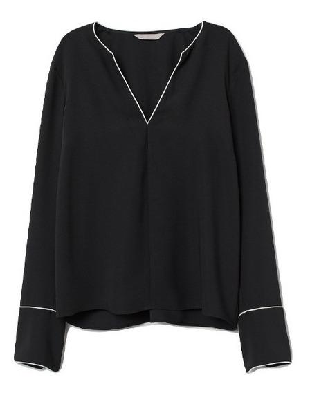 H & M Camisa Cuello V. Super Elegante!
