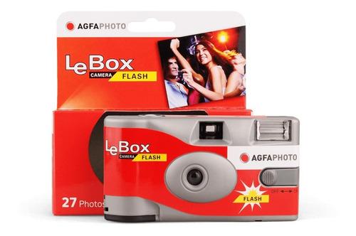 Imagen 1 de 2 de Camara Descartable Agfa Lebox Con Flash X 27 Fotos (8282)