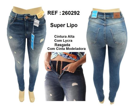 Calça Jeans Feminina Sawary Tamanho 38 Super Lipo Liquidação