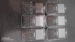 Lote 7 Celular Samsung Gt C3222 -uso Peças Carcaça 3222