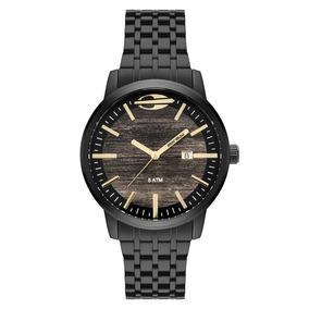 Relógio Mormaii Mo2115bf4m Preto/dourado