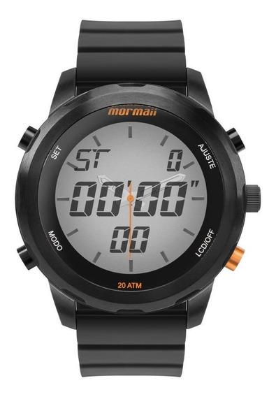 Relógio Masculino Mormaii Mo2035kd/8p 49mm Silicone Preto