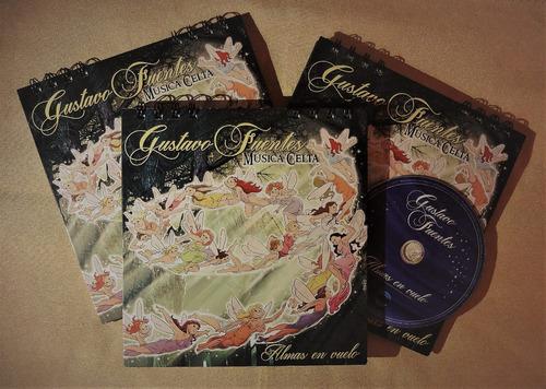 Imagen 1 de 4 de Cd - Libro Almas En Vuelo De Gustavo Fuentes - Música Celta