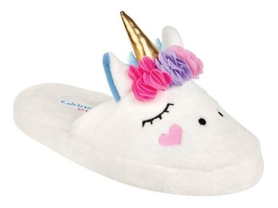 Hermosas Pantuflas Unicornio Dama Afelpadas Tiernas 05702